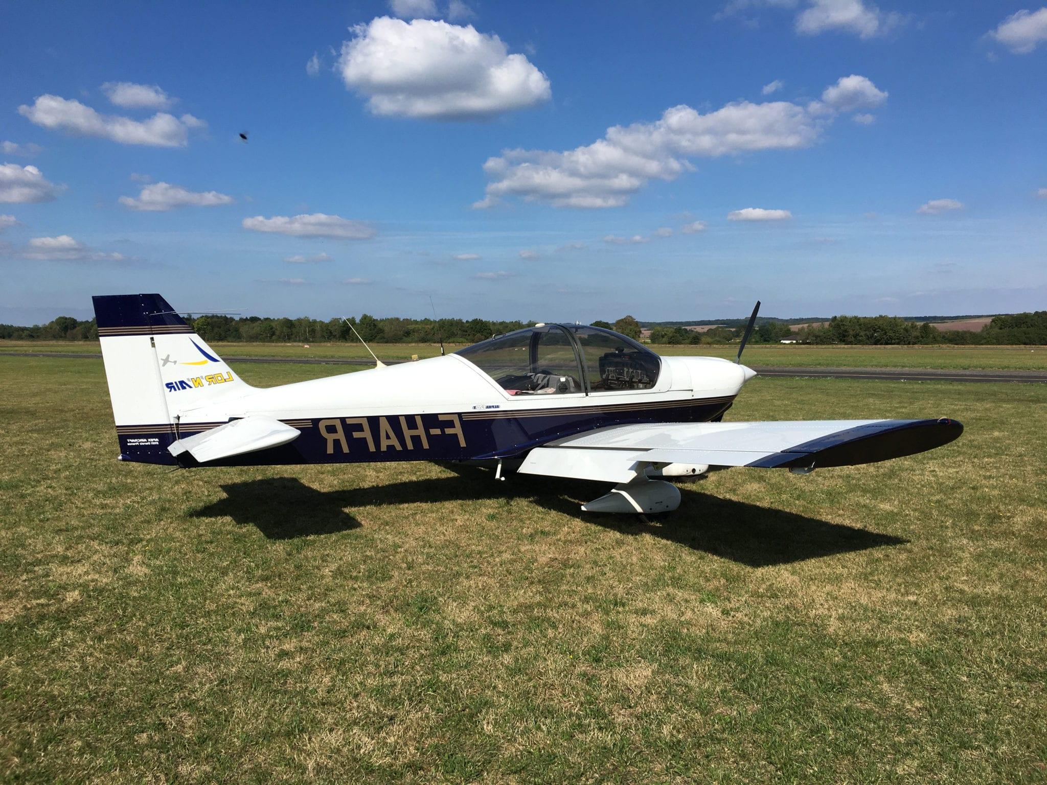 avion robin alpha 120 biplace tourisme lorraine nancy pilotage
