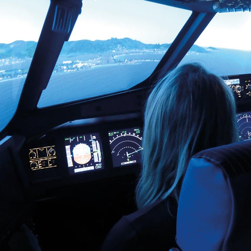 simulateur vol avion ligne pilote femme lorraine metz